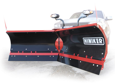 Two V-Plow snow plows ready to be installed